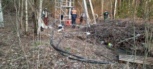Устранение аварии и замена кабеля